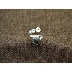 Silver Ring 925 with Lava
