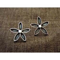 oxidized Silver Earrings 925