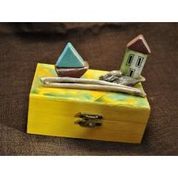 Ξύλινο ζωγραφιστό  κουτί