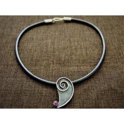 Oxidized 925 silver pendant...